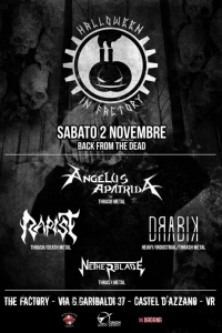 Angelus Apatrida all'Halloween in Factory il 2/11